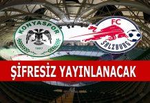 Konyaspor Salzburg maçı şifresiz