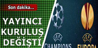 Şampiyonlar ligi ve Uefa Avrupa ligi hangi kanalda